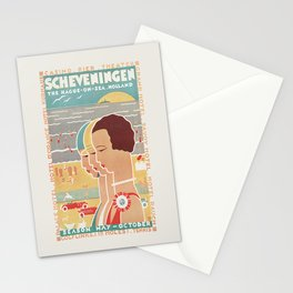 Scheveningen Vintage Dutch Travel Poster Stationery Cards