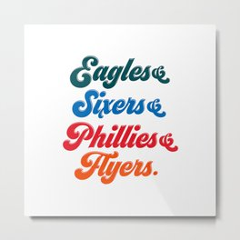 Philadelphia Sports Teams Metal Print