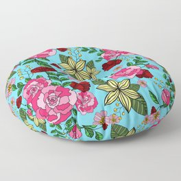 Vintage Floral Pattern Floor Pillow