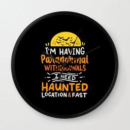 ghost huntersparanormal investigator Wall Clock