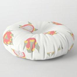 Abstract Boho dragon fruits Floor Pillow