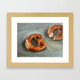 Pretzels in paint Framed Art Print