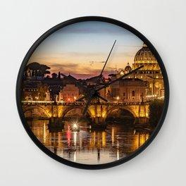 Rome, Italy Wall Clock