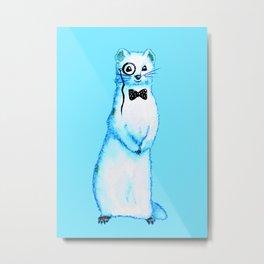 Funny Ferret Hipster Metal Print