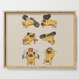 Chest Day with The Pug Serving Tray