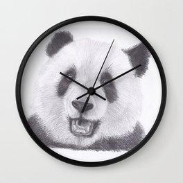 Panda Bear Drawing Wall Clock