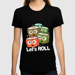 Sushi Roll Squad Team Japanese Food Maki T-shirt