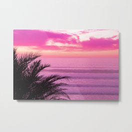 Coastal Pink by Reay of Light Photography Metal Print