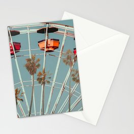 Santa Monica pier palm Stationery Cards