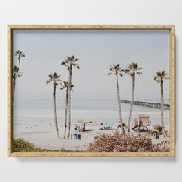 palm trees x / california Serving Tray