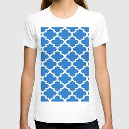 Arabesque Architecture Pattern In Blue T-shirt