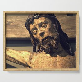 Crucified Christ Serving Tray