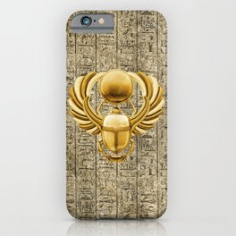 Gold Egyptian Scarab iPhone Case
