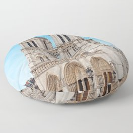 France Photography - Cathédrale Notre-Dame De Paris Under The Blue Sky Floor Pillow