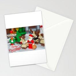 Santa and Rudolf Stationery Cards