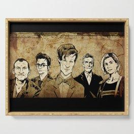 Doctor Who - Nine, Ten, Eleven, Twelve, and Thirteen Serving Tray