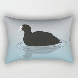 Common coot vector Rectangular Pillow