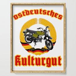 East German legend Simme T-shirt DDR gift idea Serving Tray
