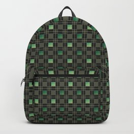 Green black nice cage . Backpack