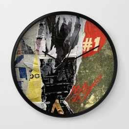 Berlin Posters-Number One Wall Clock