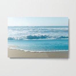 Blue Sea Backdrop Metal Print