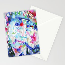 PABLO NERUDA - watercolor portrait Stationery Cards