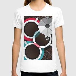 Coffee Cups & Moka T-shirt