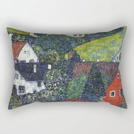 Gustav Klimt - Houses At Unterach On The Attersee Rectangular Pillow