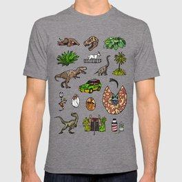 Jurassic pattern lighter T-shirt