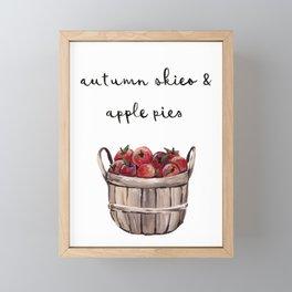 Autumn Skies & Apple Pies Framed Mini Art Print