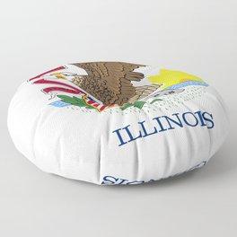 State flag of Illinois Floor Pillow