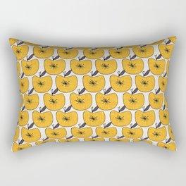 Pop Fruit Apple Yellow Rectangular Pillow