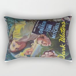 Dark Waters, vintage horror movie poster Rectangular Pillow