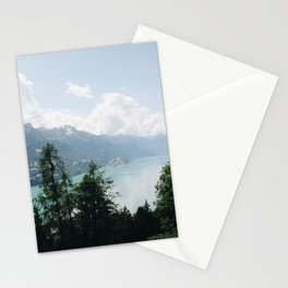 Photo of the view over Lake Brienz (the Brienzersee), Suisse | Colorful travel photography | Stationery Cards