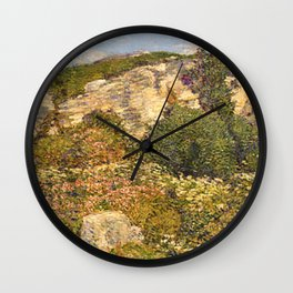 Childe Hassam - Laurel in the Ledges Wall Clock