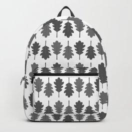 Oak Leaves Pattern (Grey) Backpack
