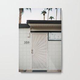 Mid Century Modern Door in Palm Springs, CA. Travel print Palm Springs - film & digital photography wall art. Art Print Metal Print