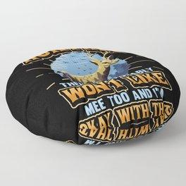 Hunter Hunting Antler Rifle Dog Forester Gift Floor Pillow