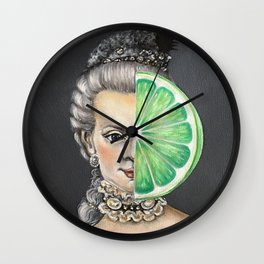 Limeade Marie Antoinette Wall Clock