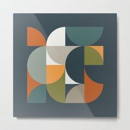 Mid Century Geometric 12/2 Metal Print