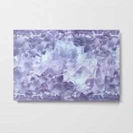 Muted purple crystal cluster Metal Print