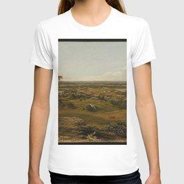 Rocks In New England 1855 By Martin Johnson Heade | Reproduction T-shirt