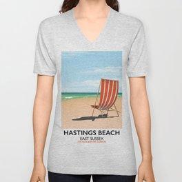 Hastings Beach Easy Sussex Unisex V-Neck