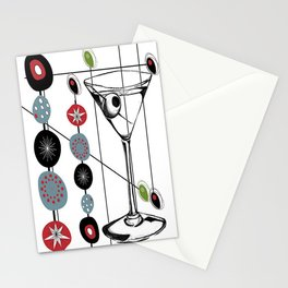 Mid-Century Modern Art Atomic Cocktail 3.0 Stationery Cards