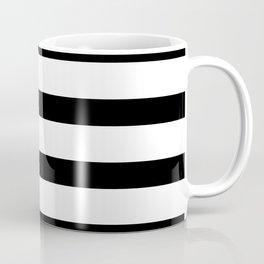 Black Stripes on White Coffee Mug