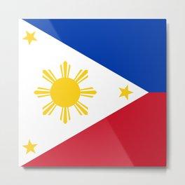 Philippines Flag Metal Print