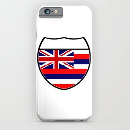 Hawaii Flag In An Interstate Sign iPhone Case