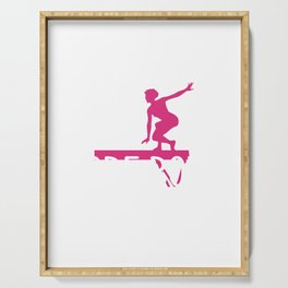 Gymnast If it Was Easy More Boys Would Do It Gymnastics Serving Tray