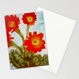 Red Epiphyllum Orchid Cactus still life painting by Emil Nolde Stationery Cards