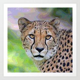 AnimalPaint_Cheetah_20171201_by_JAMColorsSpecial Art Print